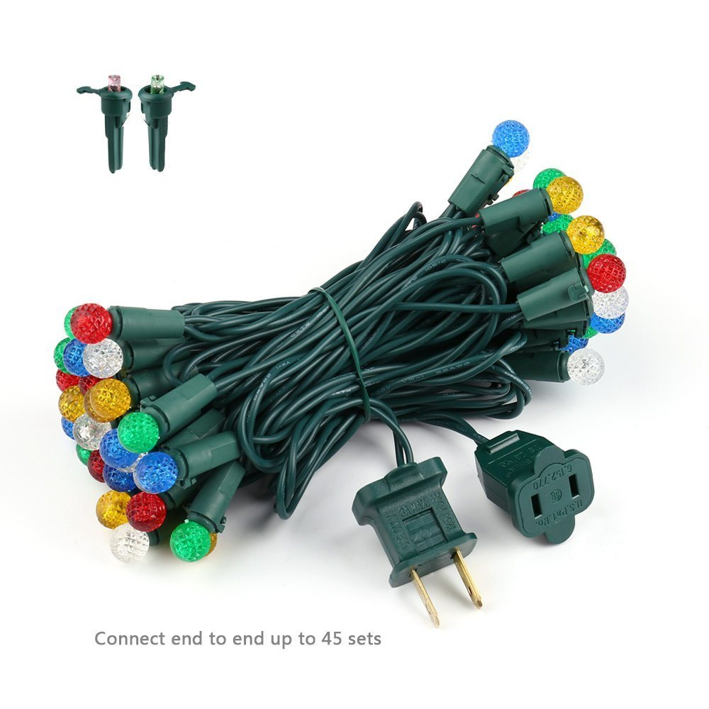 Led G10 China Multi Color 16 3ft G10 Faceted 50 Led Christmas Lights
