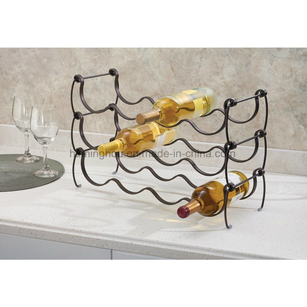 Metal Wine Storage Racks Hot Item Metal Stackable Tabletop Display Wine Storage Rack For Kitchen Countertop