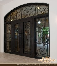 China Superior Quality Wrought Iron Door with Transom and ...