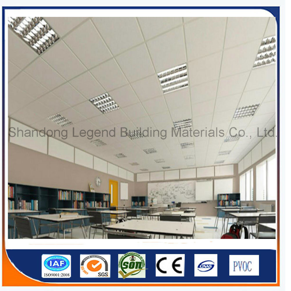Plafond Western Union China Pvc Laminated Gypsum Ceiling Tiles Pvc Gypsum False Ceiling