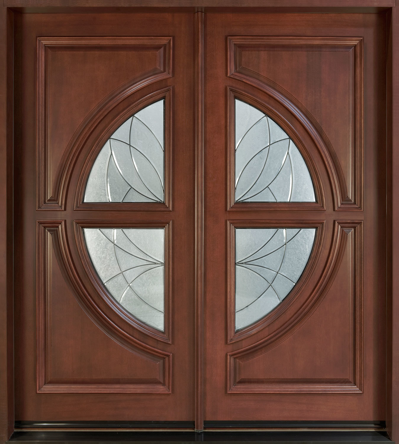 Timber Glass Doors Hot Item Solid Timber Door Villa Door Double Sashed Wooden Door With Glass Solid Wood Door