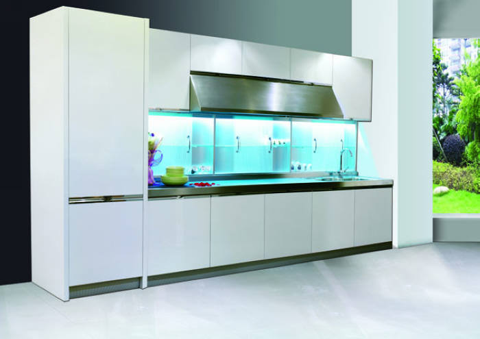 Lacquered Glass Kitchen Cabinets China New Model White Lacquered Kitchen Cabinet With Glass