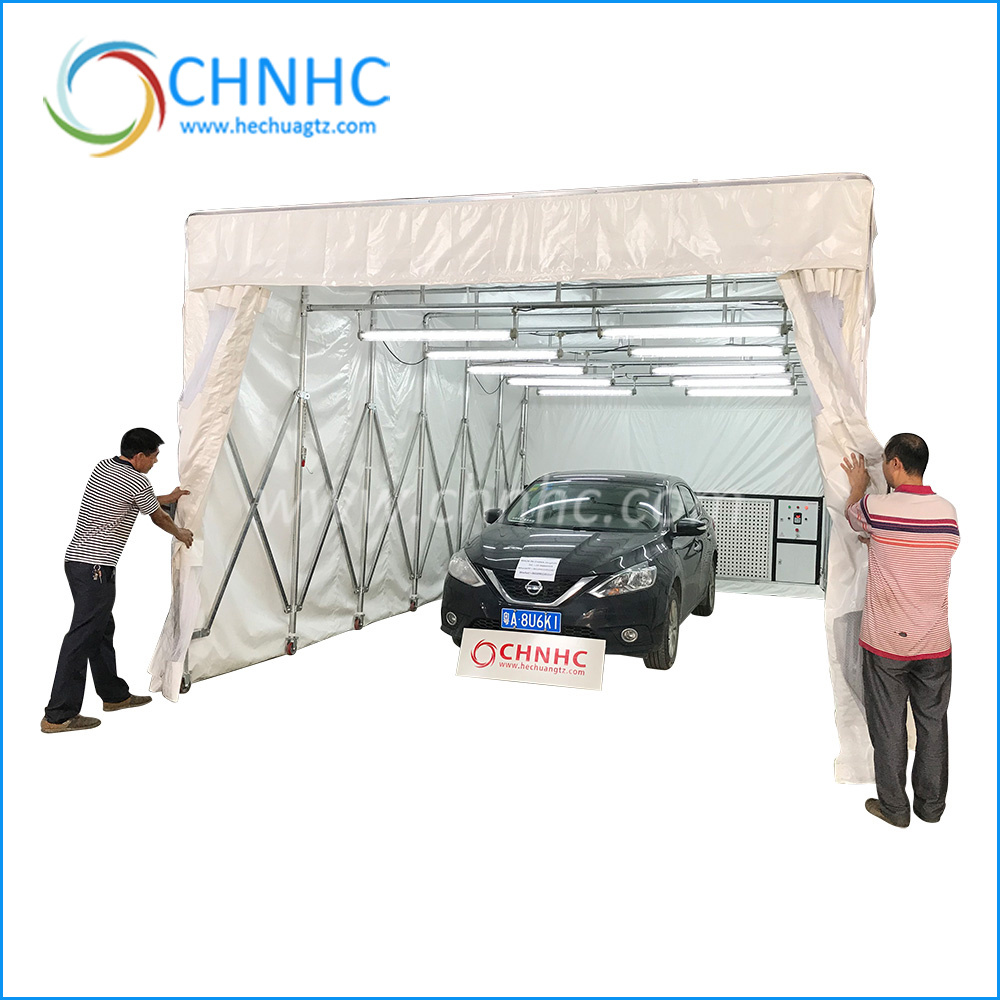 Vehicle Paint Manufacturers Hot Item China Manufacturer Auto Maintenance Movable Retractable Portable Folding Car Mobile Spray Paint Booth