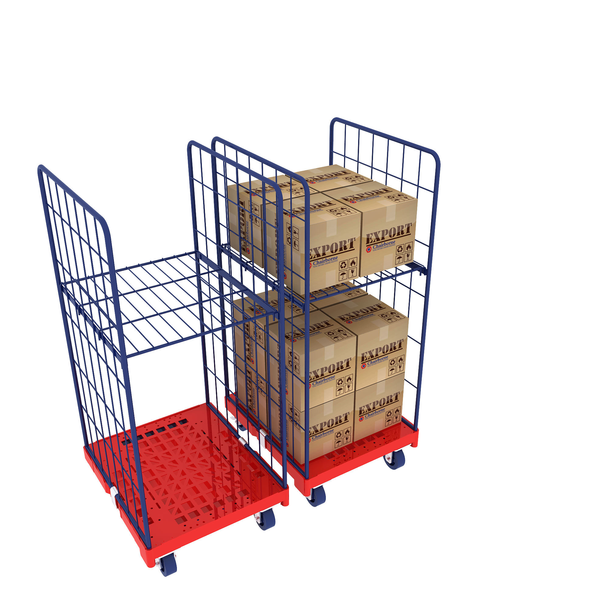 A Frame Trolley China 3 Sides A Frame Mobile Transportation Wire Mesh Roll Cage