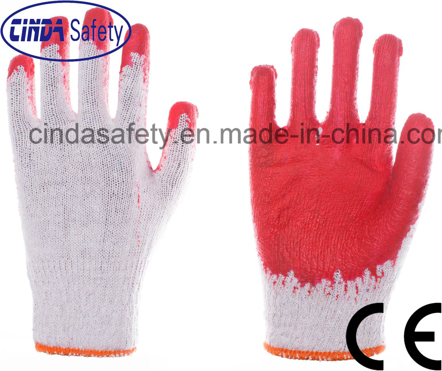 Labor Safety China Red Latex Coated Construction Industrial Labor Safety Work