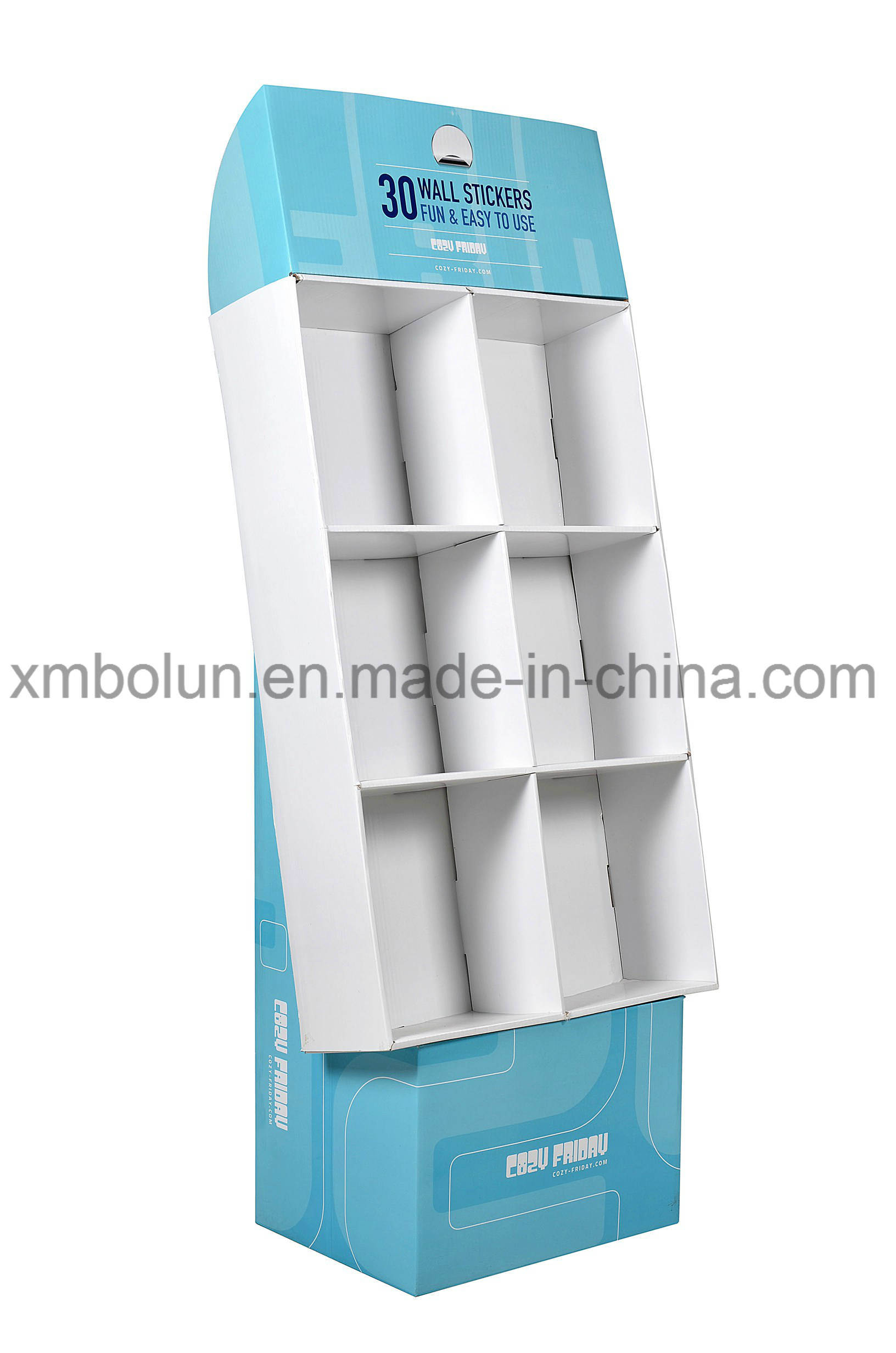 Book Display Stand China Customized Corrugated Cardboard Book Floor Tiers Display