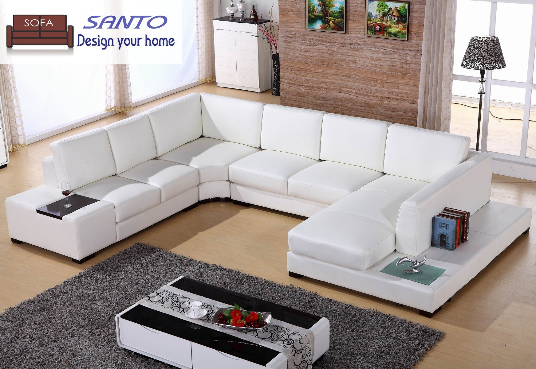 U Couch Hot Item Leather Sofa 9 Seater Sofa Germany Living Room Leather Sofa Leather Sectional Combination Sofas U Shape Sectional Sofa