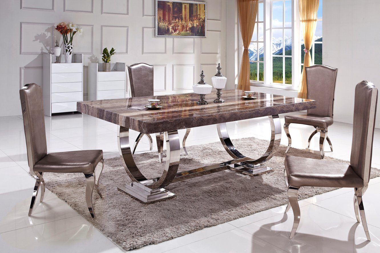 Cheap Smart Tv Sydney China Hot Sale Stable Metal Legs Marble Top Dining Table