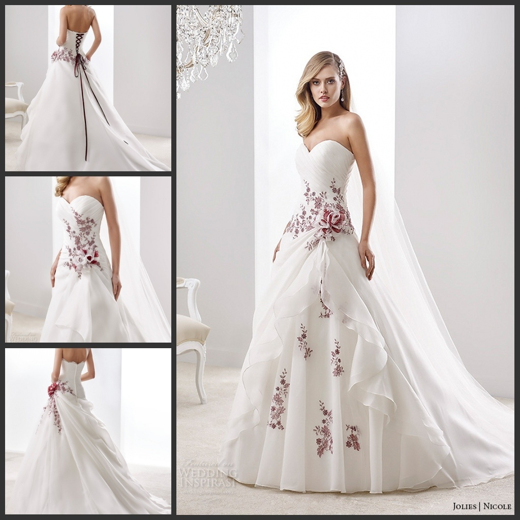 short wedding dresses with color accents wedding dresses with color Color Accented Gowns Suzhou Leader Apparel Co Ltd Page 1