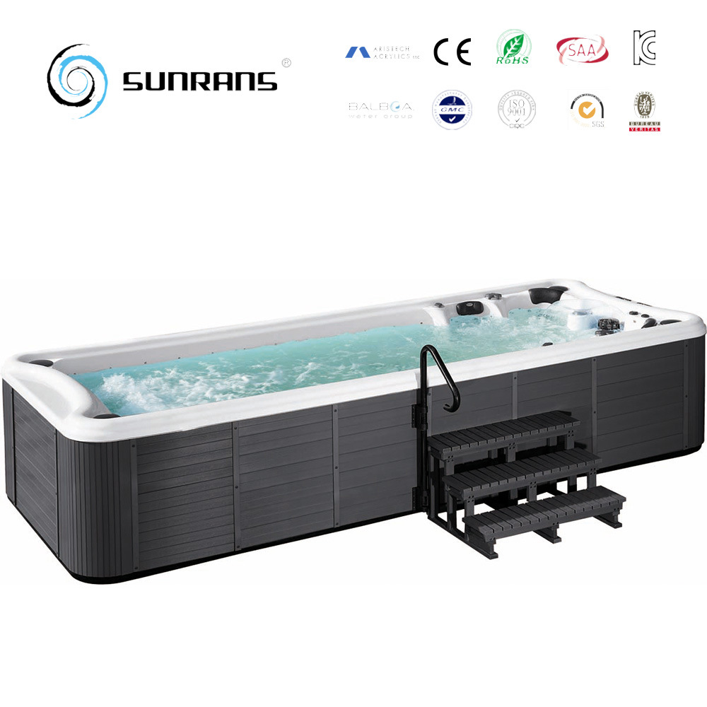 Whirlpool Outdoor Swim Spa Hot Item 2017 Hot Selling Acrylic Swimming Pool Spa Wholesaler Outdoor Whirlpool Swim Spa Sr860