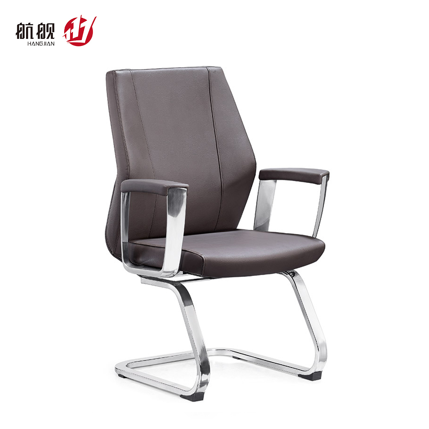 China Middle Back Leather Visitor Executive Office Chairs Without Wheels For Conference Room Guest Chair China Modern Chair Swivel Chair