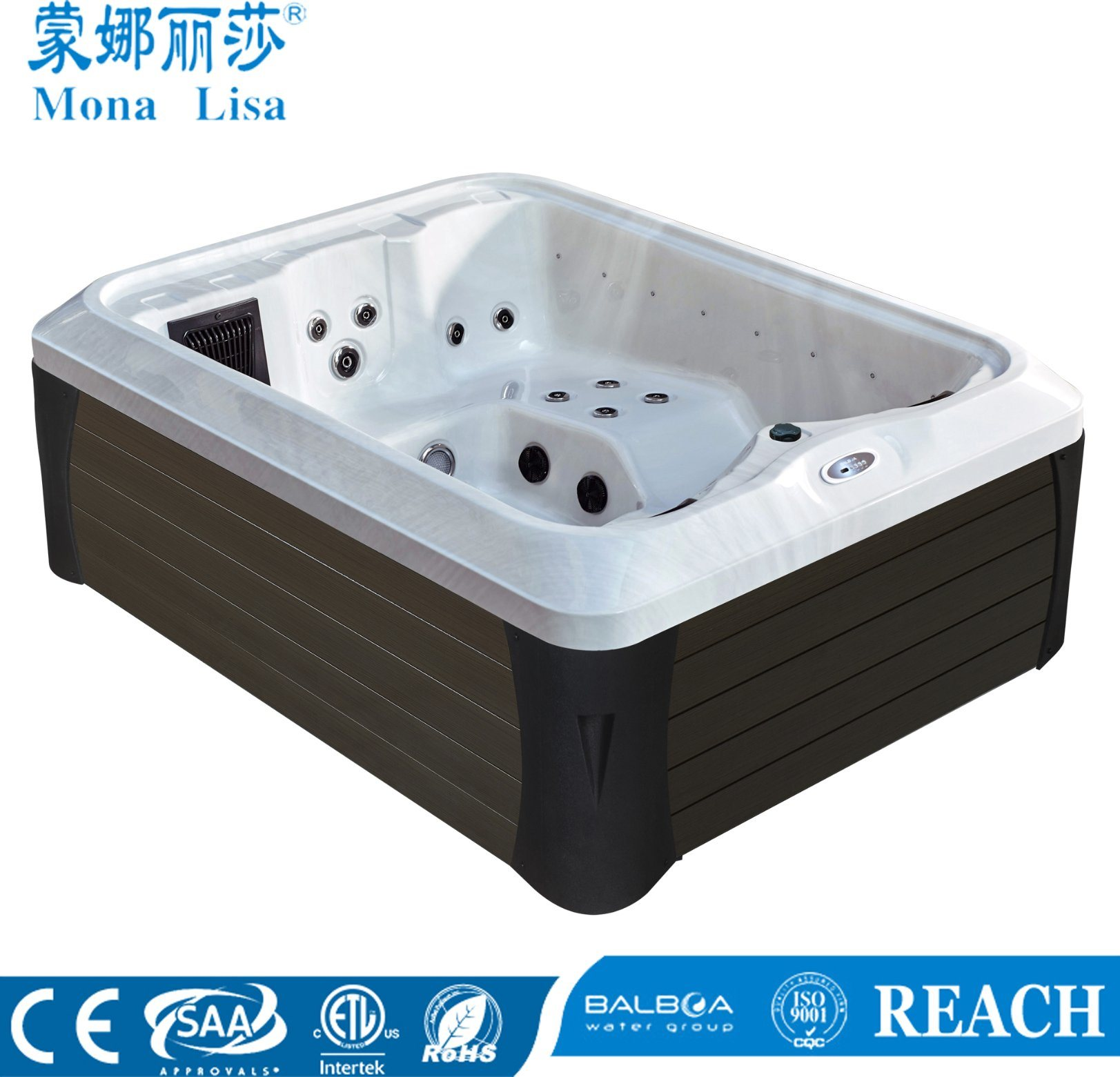 Jacuzzi Whirlpool Hot Item Double Sex Outdoor Fiberglass Jacuzzi Whirlpool Spa M 3392