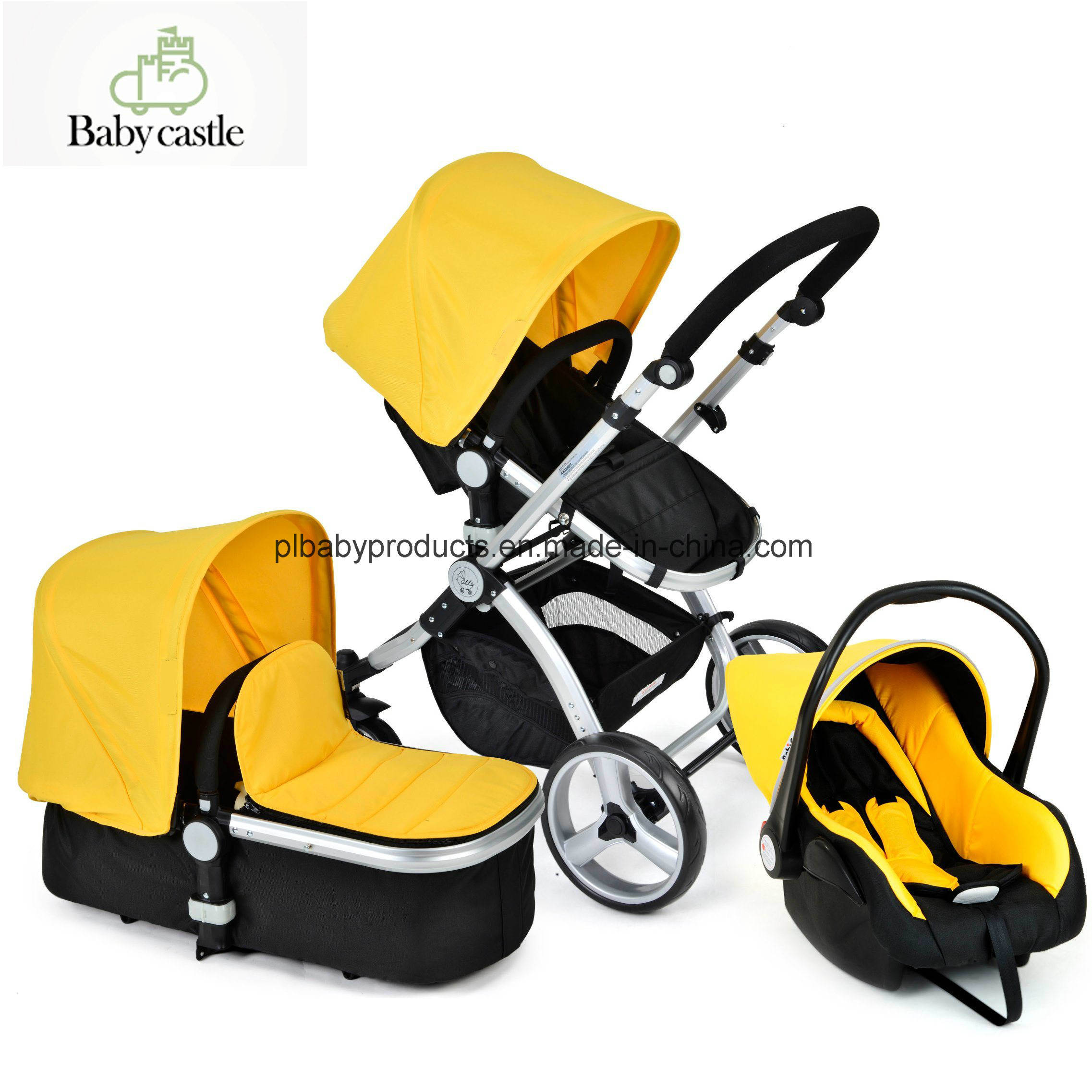 Car Seat Carrier Stroller Hot Item European Standard Style Baby Jogger Stroller With Car Seat And Carrier Yellow