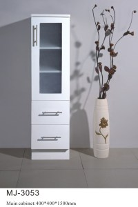 China Pure White Bathroom Storage Cabinet (MJ