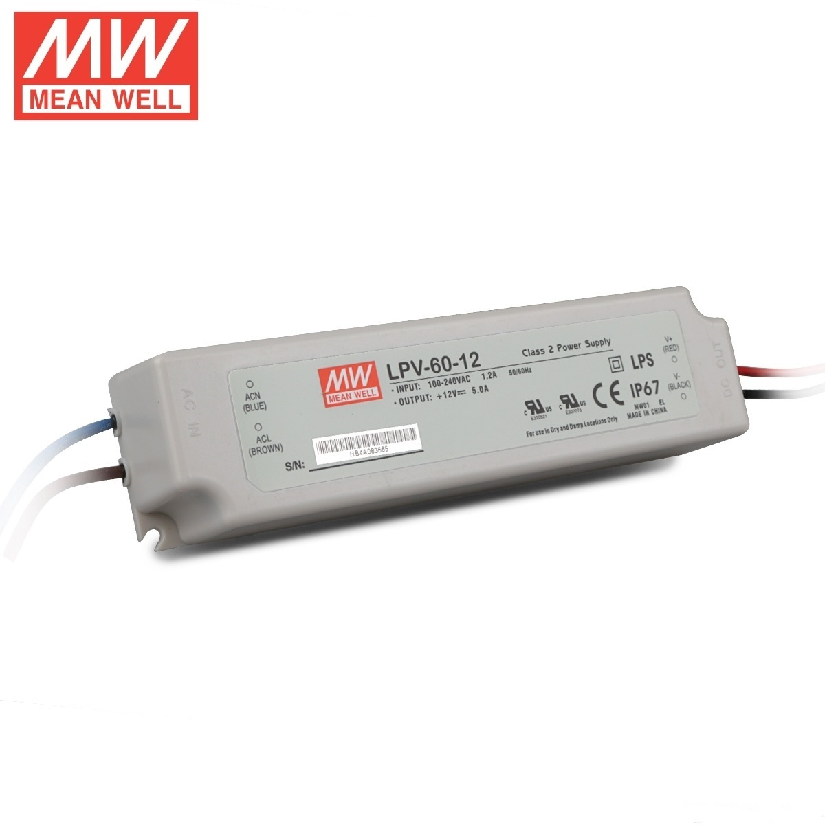 12v Ip67 Hot Item Waterproof Meanwell Lpv 60 12v Ip67 Led Switching Power Supply