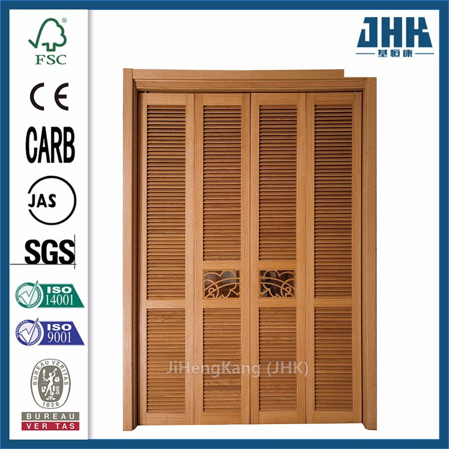 Wooden Door Blinds Hot Item Louvered Sliding Indoor Shutters Solid Door Blinds Inside Glass Wood Door