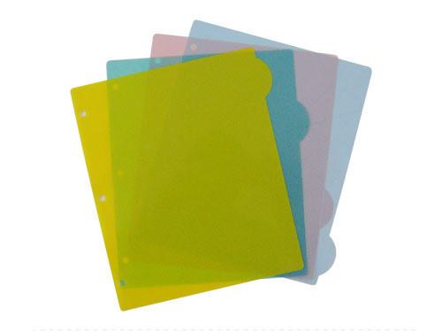 China Index Tab Dividers, Plastic File Folder (B3105) - China