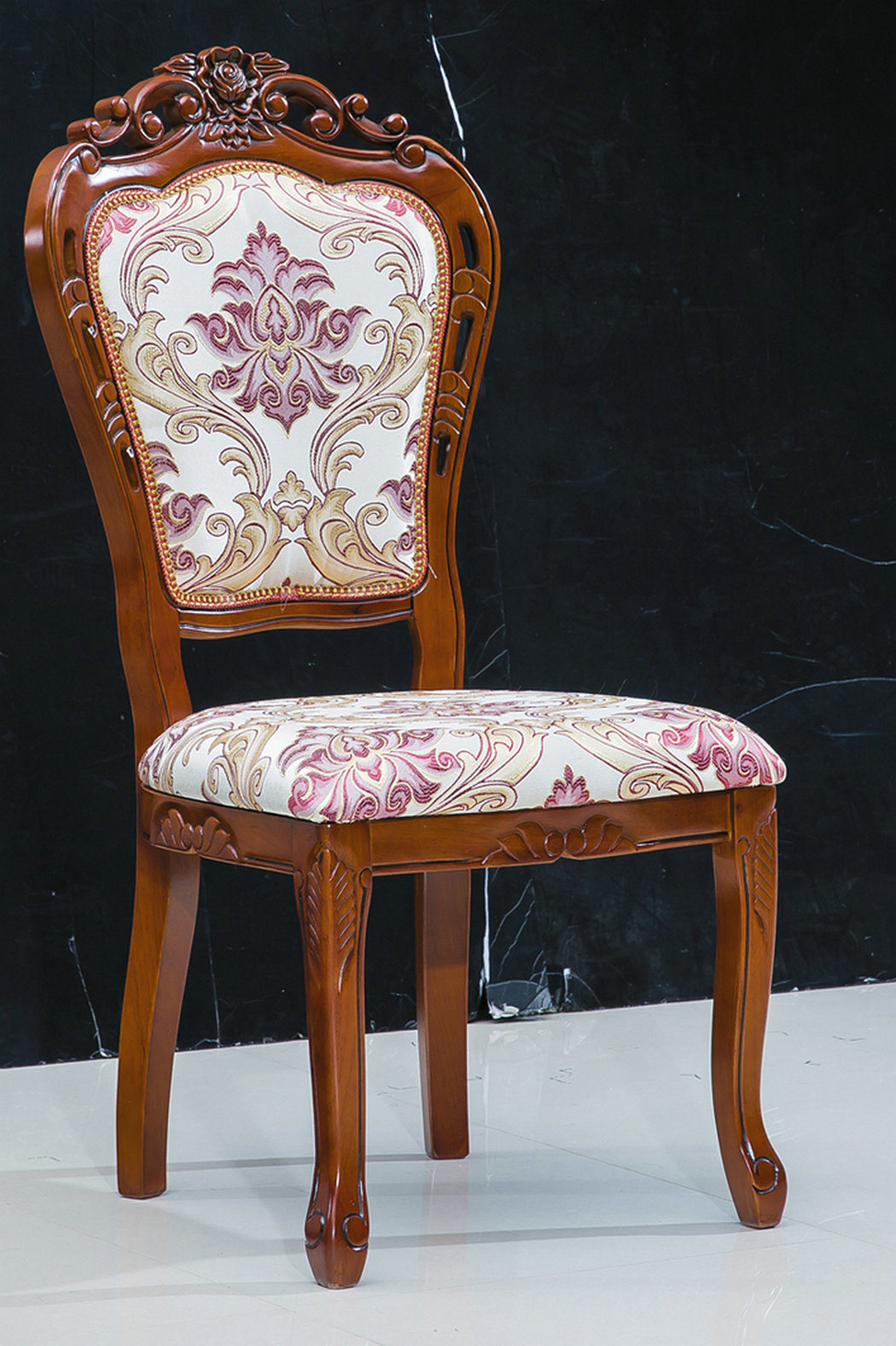 Dining Room Chair Fabric Brown Color Royal Dining Room Furniture Wooden Fabric Chair 312b
