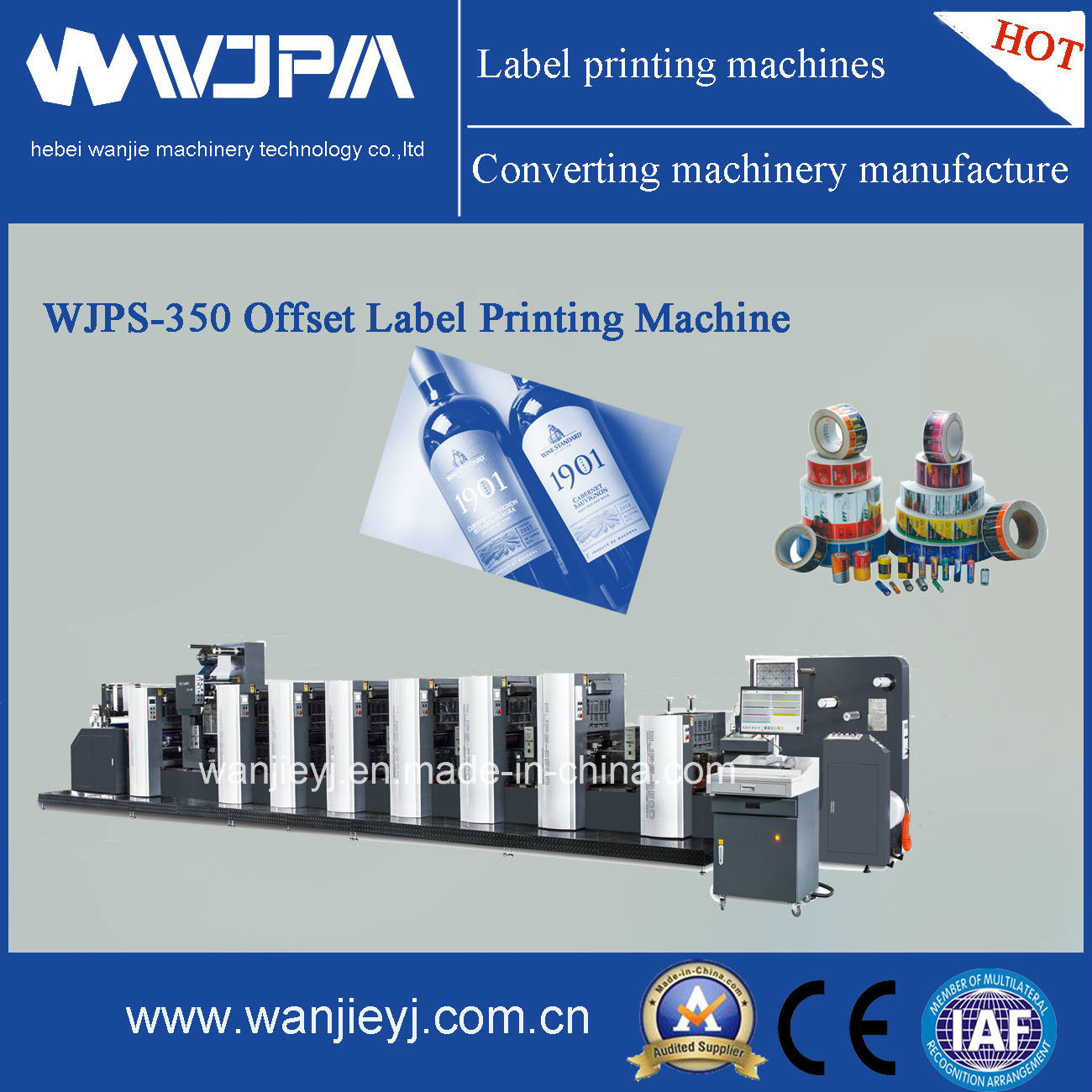 Web Offset Printing Machine Hot Item Wjps 350 Web Feed Offset Printing Machine