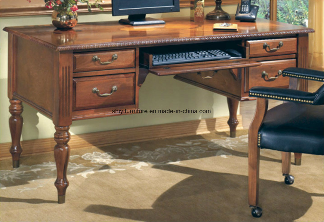 Classic Table Office China Antique Desk Office Furniture Table Wood Desk Classic Office