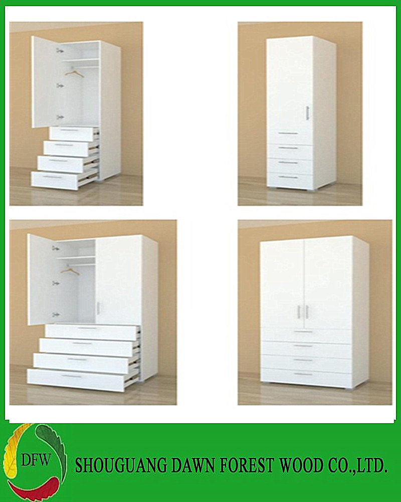 Wardrobe Furniture Hot Item Home Furniture White Wardrobe With Two Drawers Dfw Wb180921