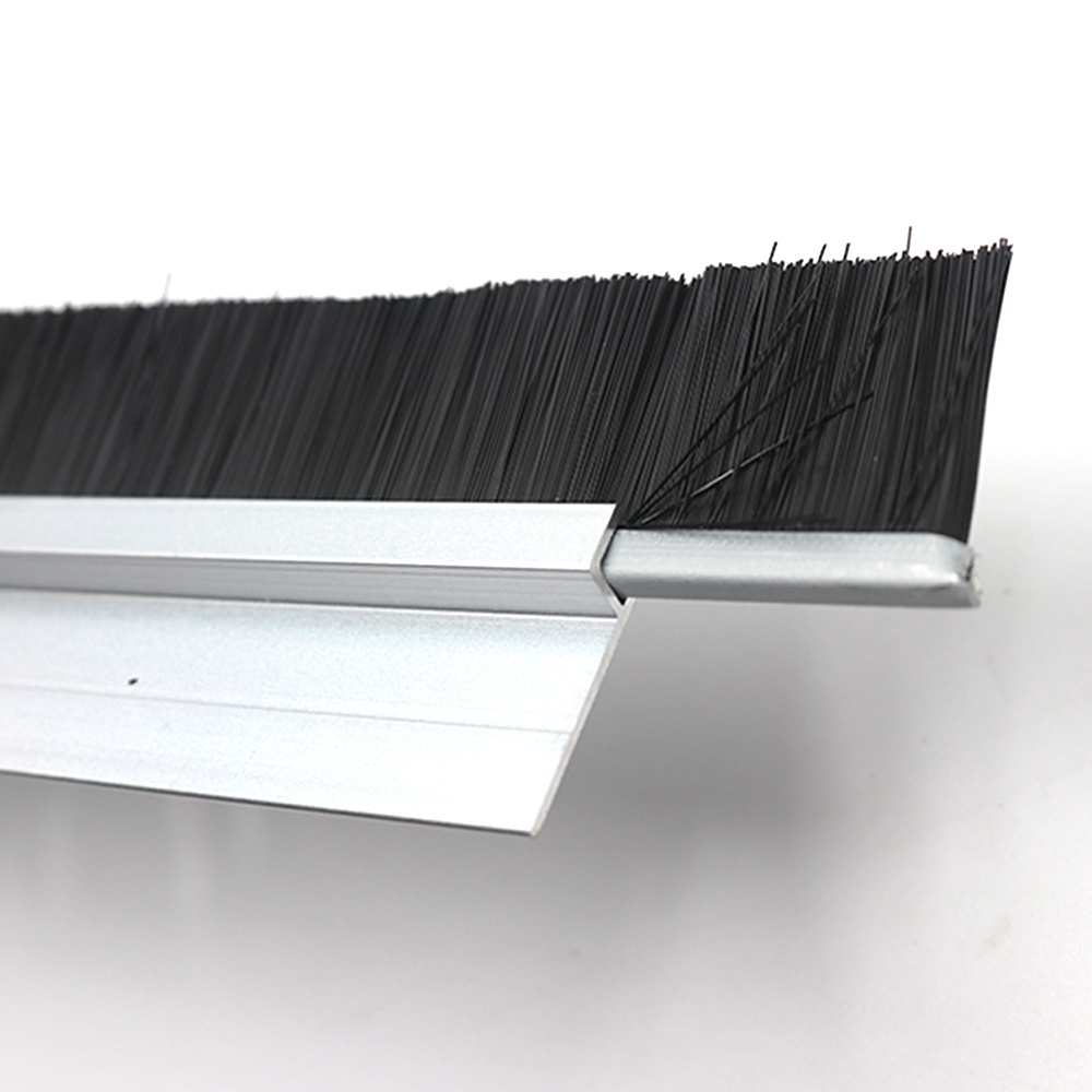 China Garage Door H Style Aluminum Alloy Bottom Door Seal Windproof Strip Brush China Weather Strip Pile Weather Strips
