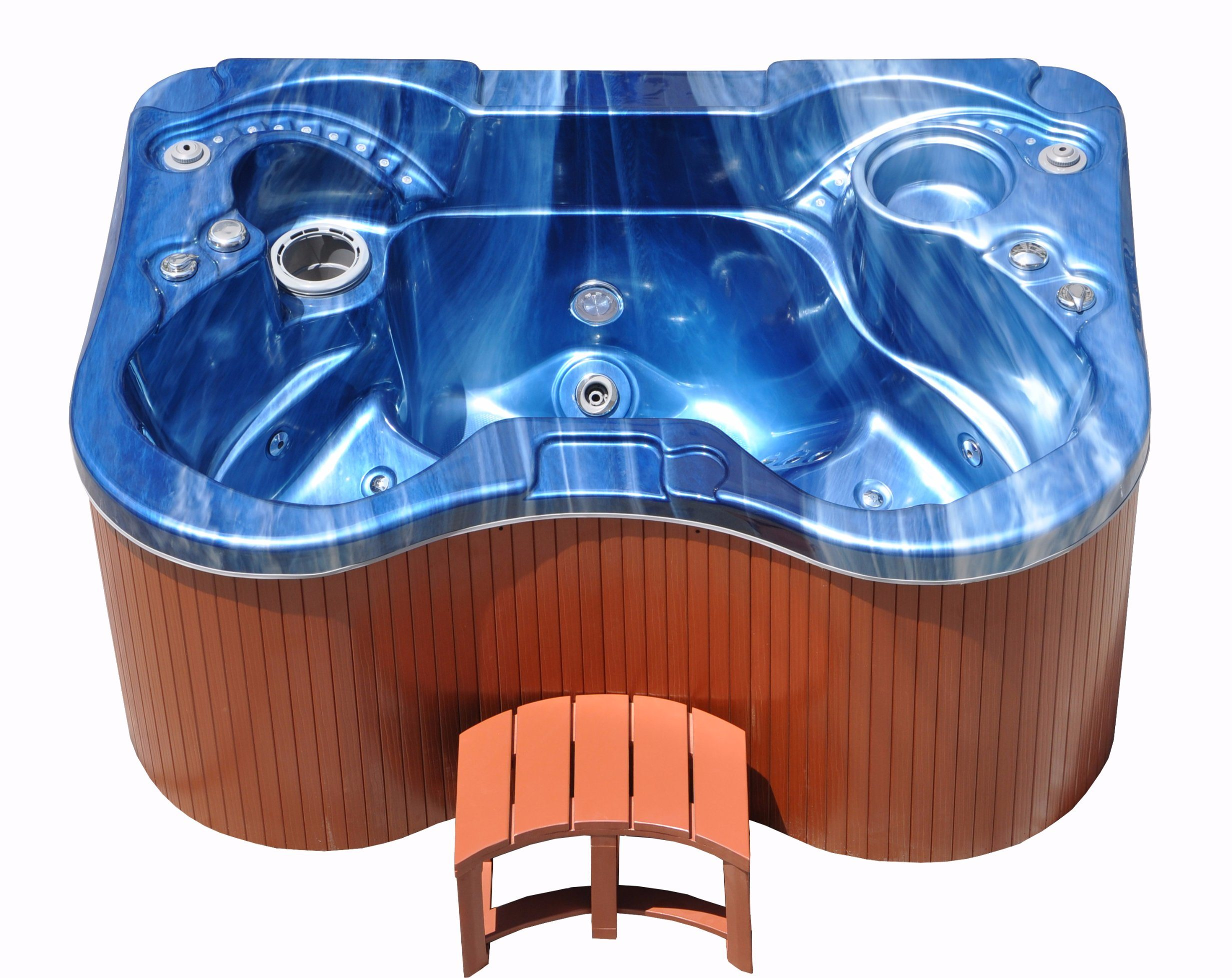 Outdoor Whirlpool Cheap Hot Item Custom 3 Person High Quality Cheap Mini Blue Color Whirlpool Spa Hot Tub Spa For The Home Kgt Jcs 23