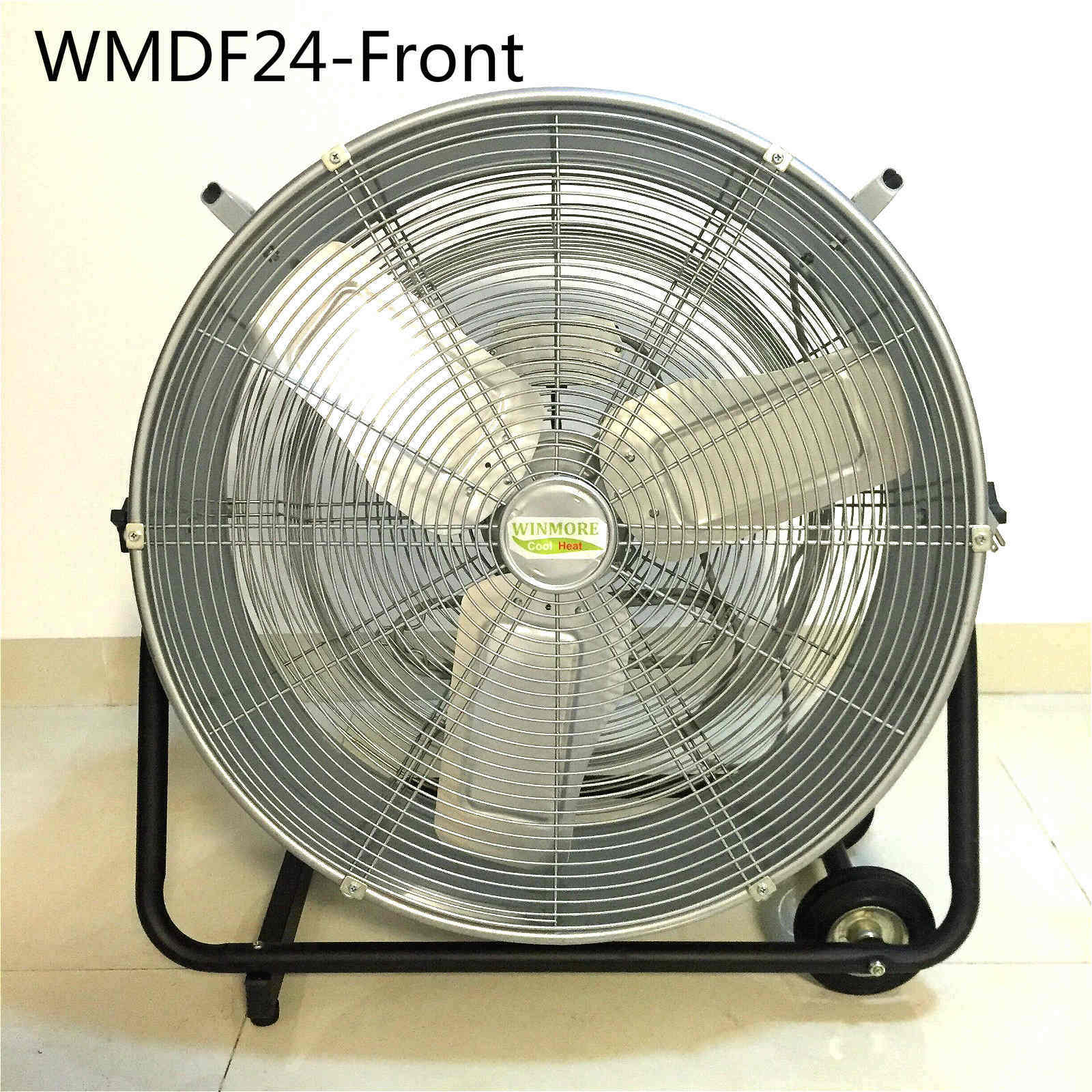Garage Workshop Fan Hot Item Rubber Wheel Rotary Switch 24 Inch Drum Fan High Velocity Fan Floor Stand Fan For Workshop Warehouse Garage