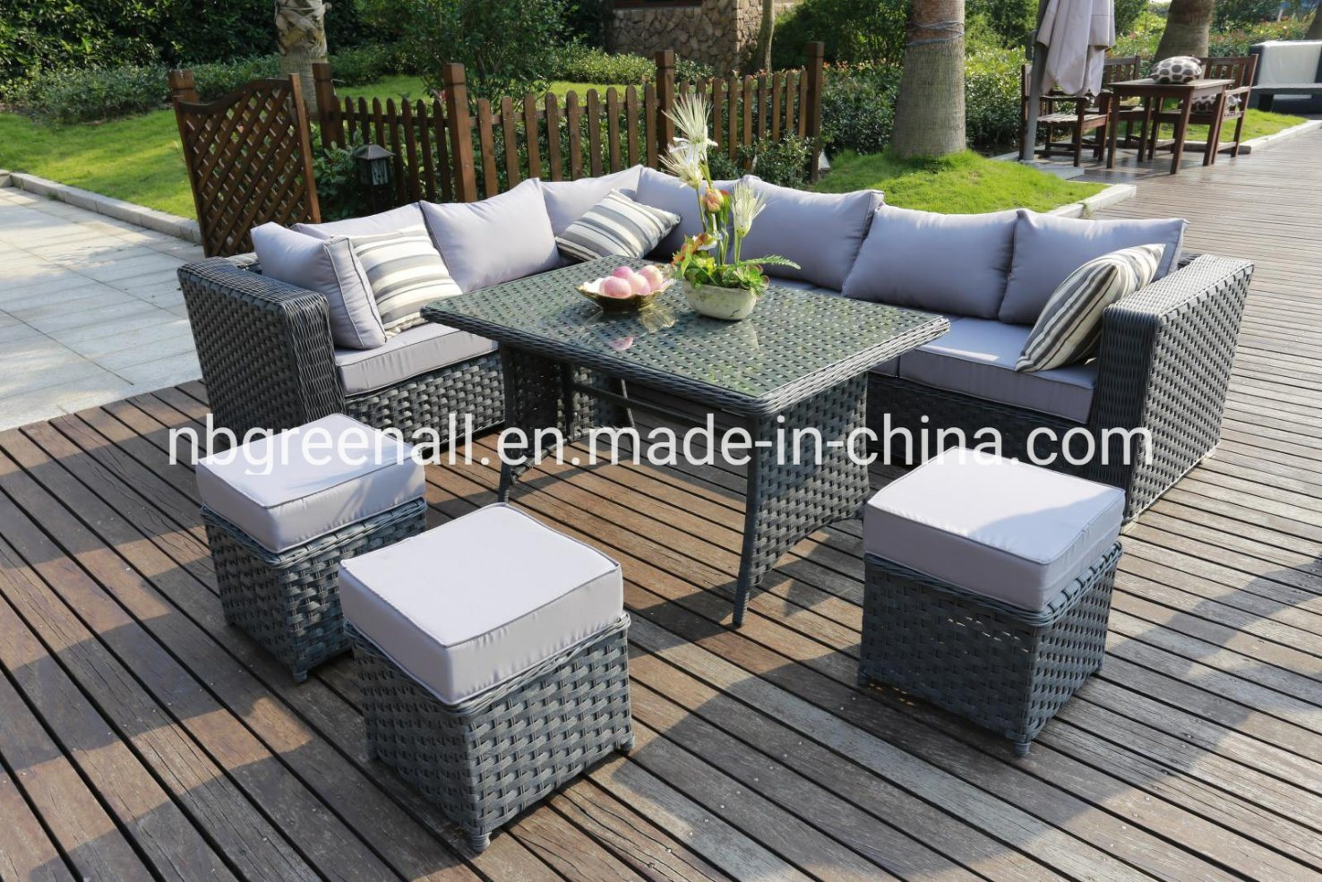 China Flat Round Rattan Mix Modern Outdoor Rattan Wicker Sofa Leisure Garden Furniture China Sofa Garden Furniture Outdoor Furniture Sofa