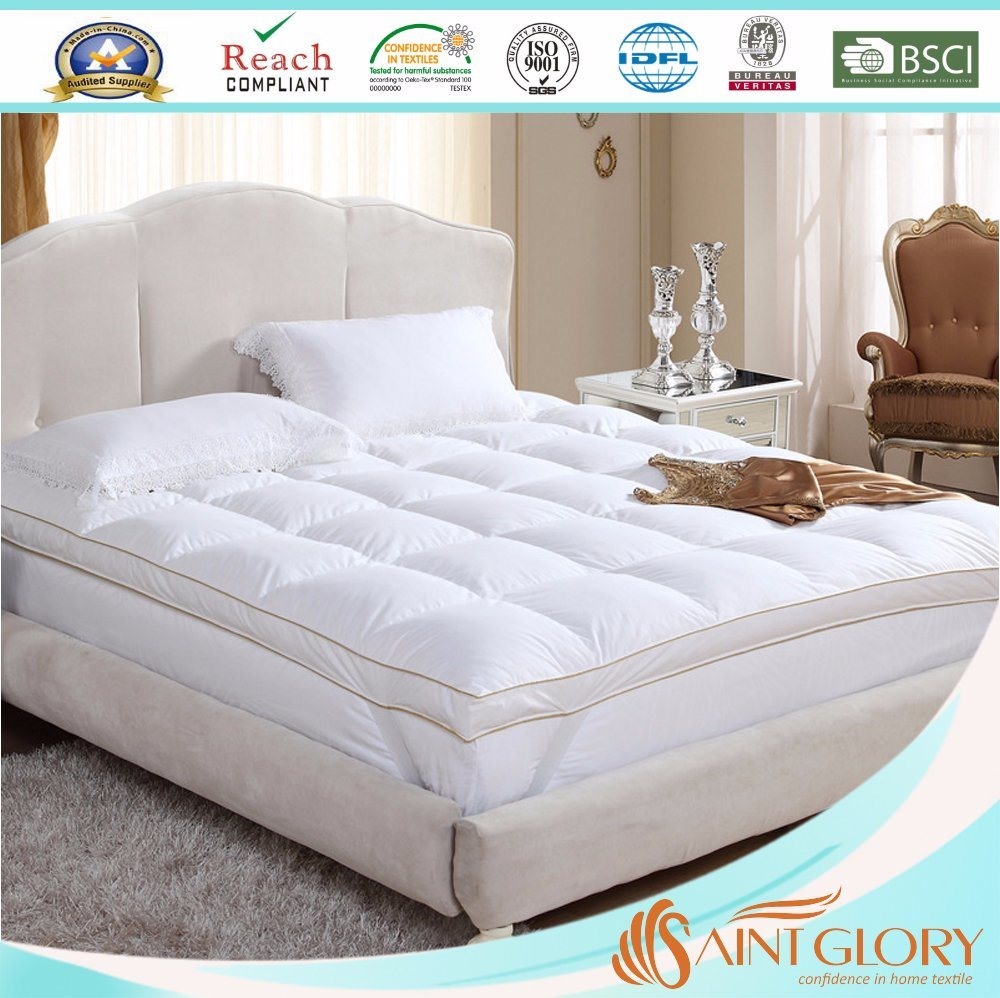 Mattress Topper Thick Hot Item Extra Thick Fiberbed Hotel Polyester Synthetic Micro Fiber Mattress Topper