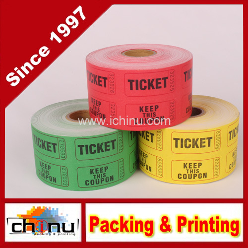 China Double Roll Raffle Tickets, 500CT (Assorted Colors) (420067