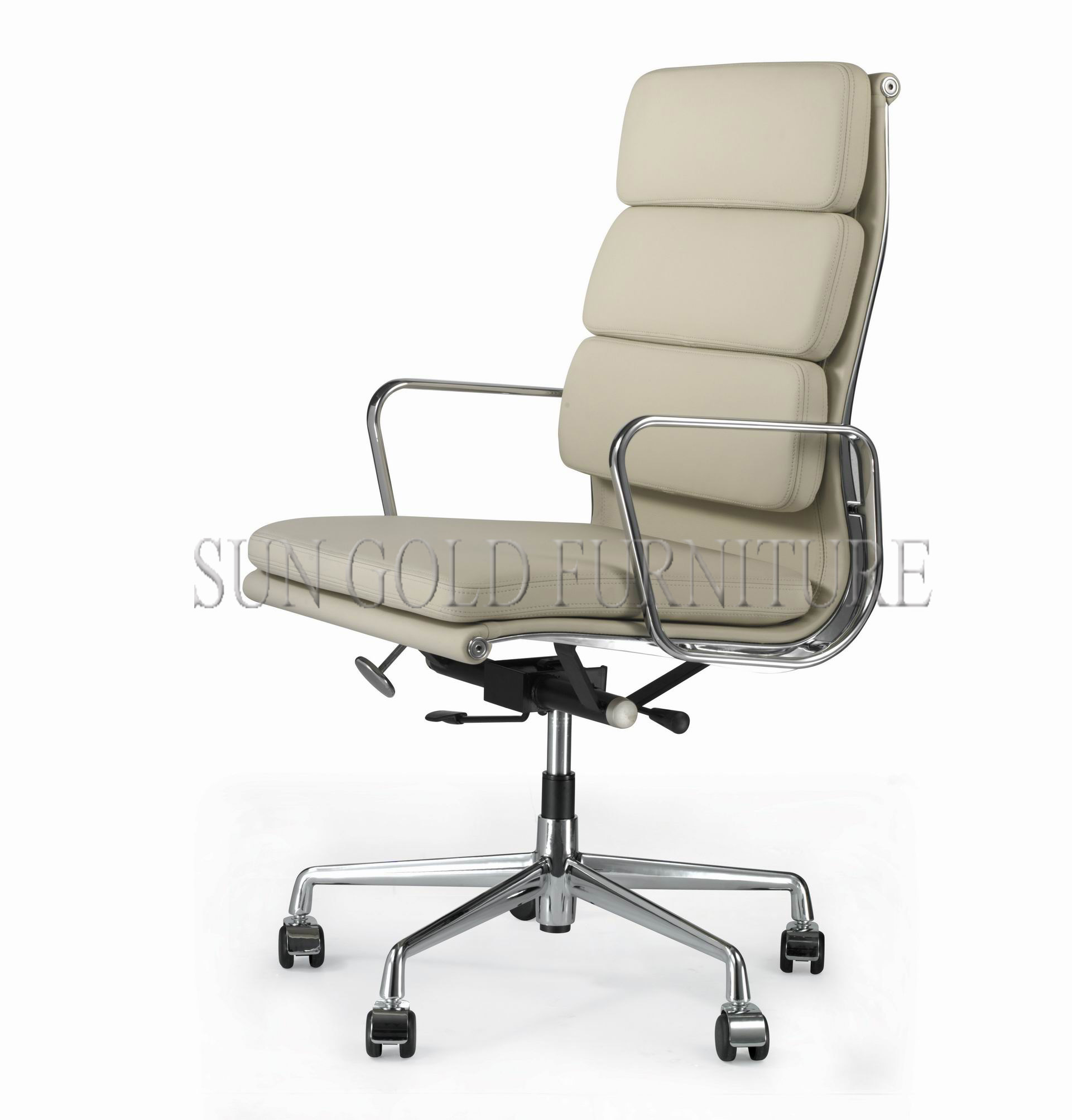 Working Chair China Modern Office Working Chair Luxury Grey Leather Chair Sz