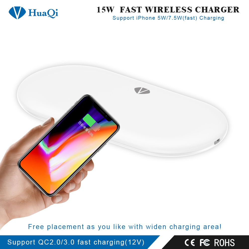 Handy Qi China Best Handy 15w Fast Qi Certified Wireless Charger 4 Coils