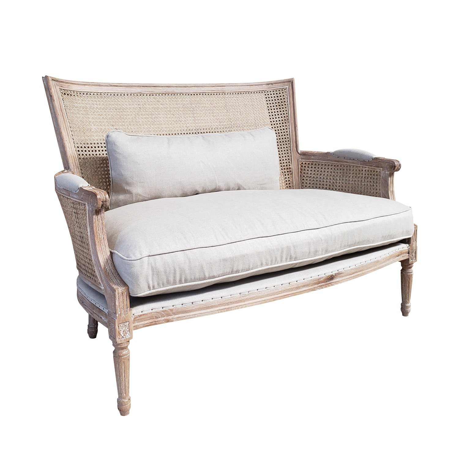 China French Style Oak Wooden Rattan Furniture Cane Sofa China Rattan Sofa Rattan Furniture Sofa