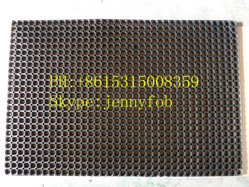 China Hardwearing Blue Rubber Grass Floor Mats Antislip