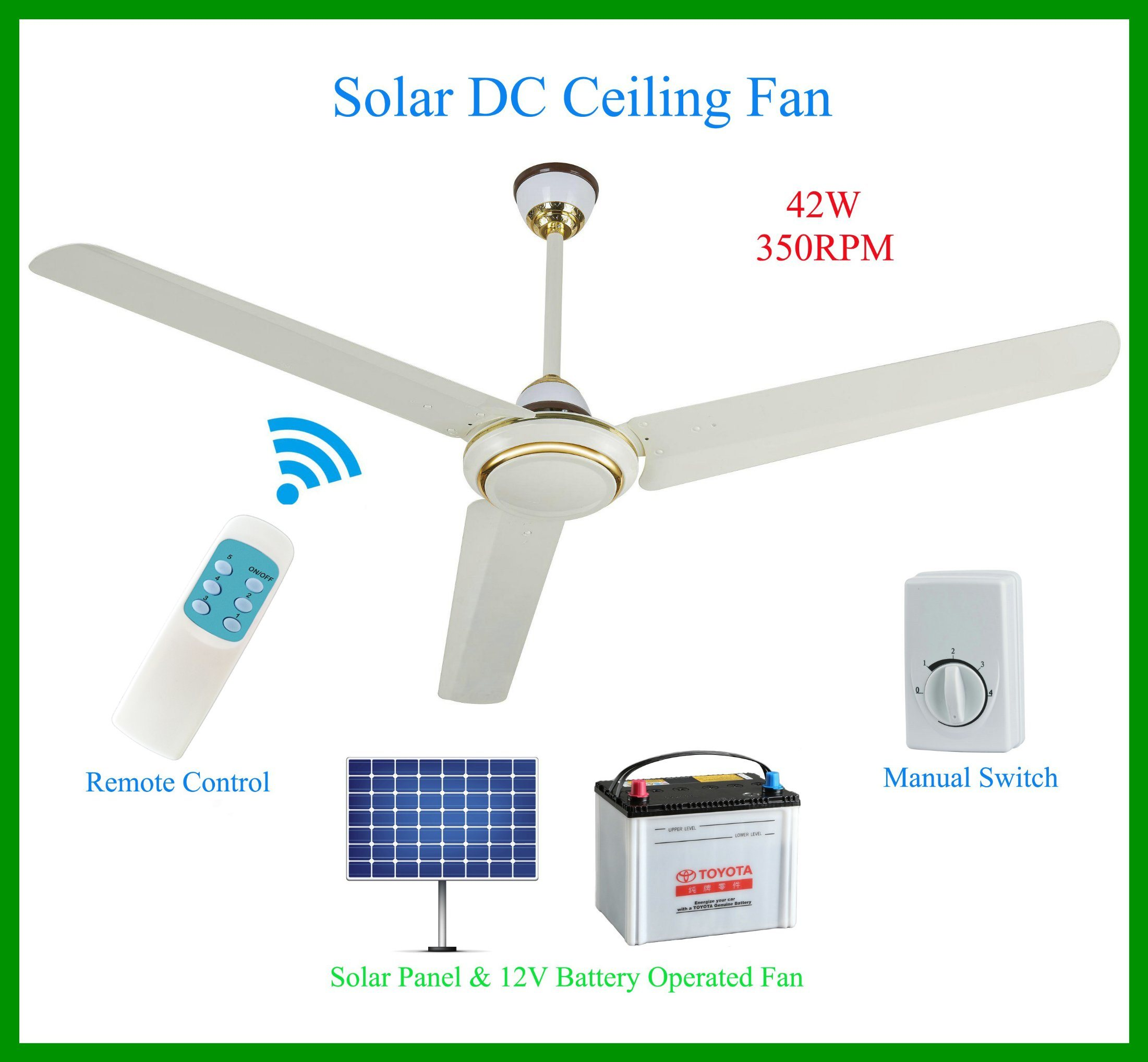 China Electric Fan Dc 12v12g Auto Electrical Wiring Diagram Solar Charge Controller Pwm Manufacturersupplier Best Ceiling For Pakistan Market 350rpm