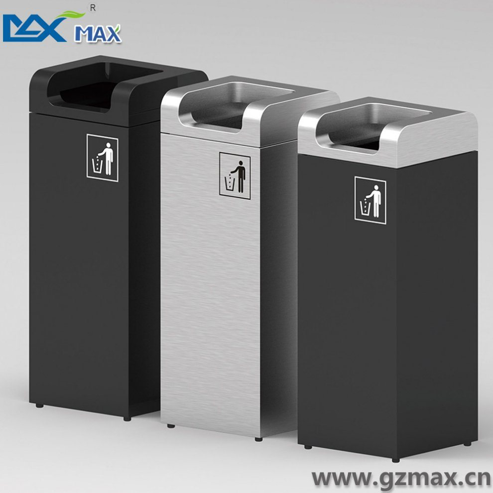 Stainless Steel Recycling Bins Hot Item Square New Design Novelty Sanitary Waste Stainless Steel Dust Bin
