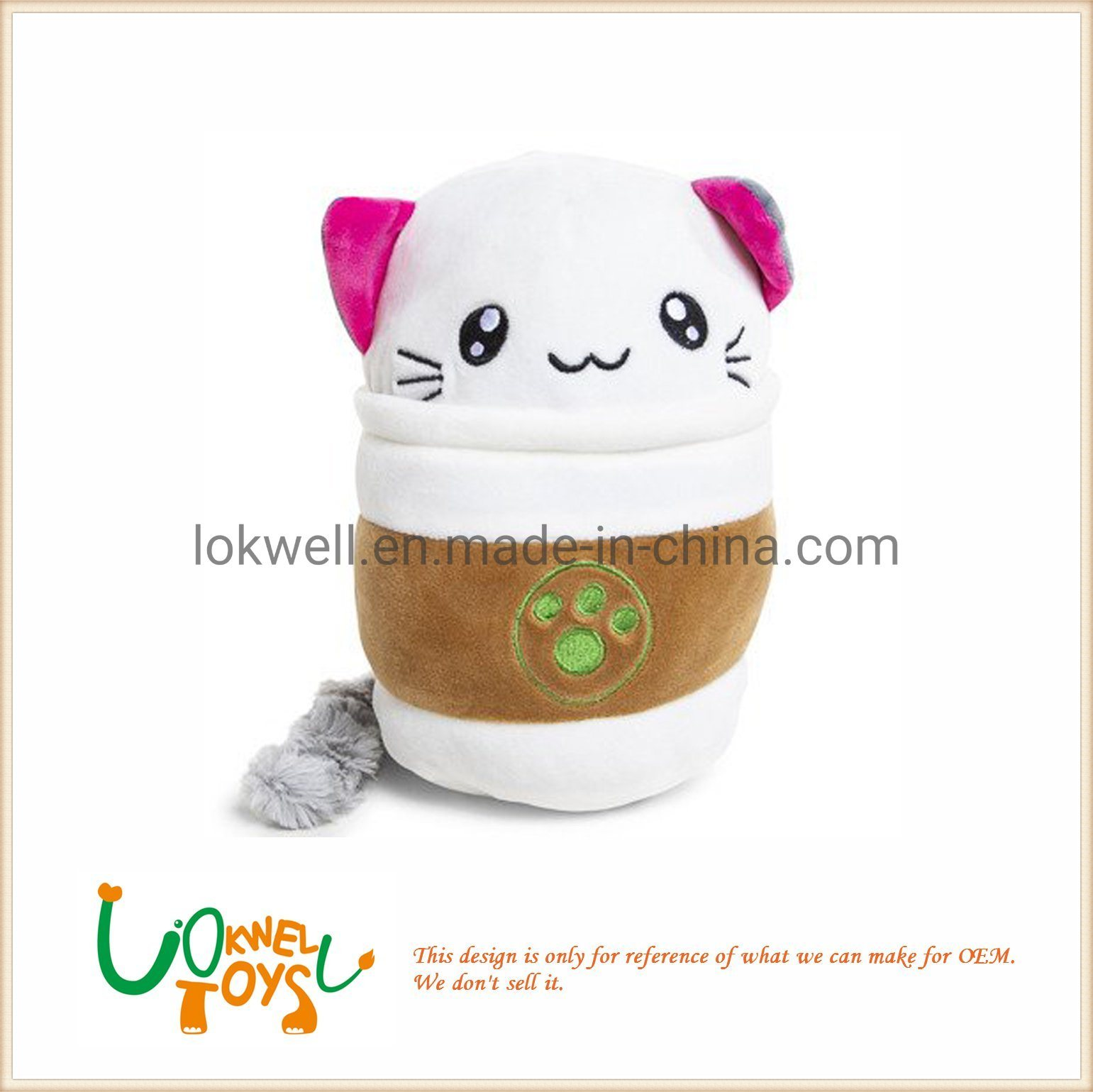 Cat Plush Toy Hot Item Plush Animal Cat Stuffed Coffee Cup Toys
