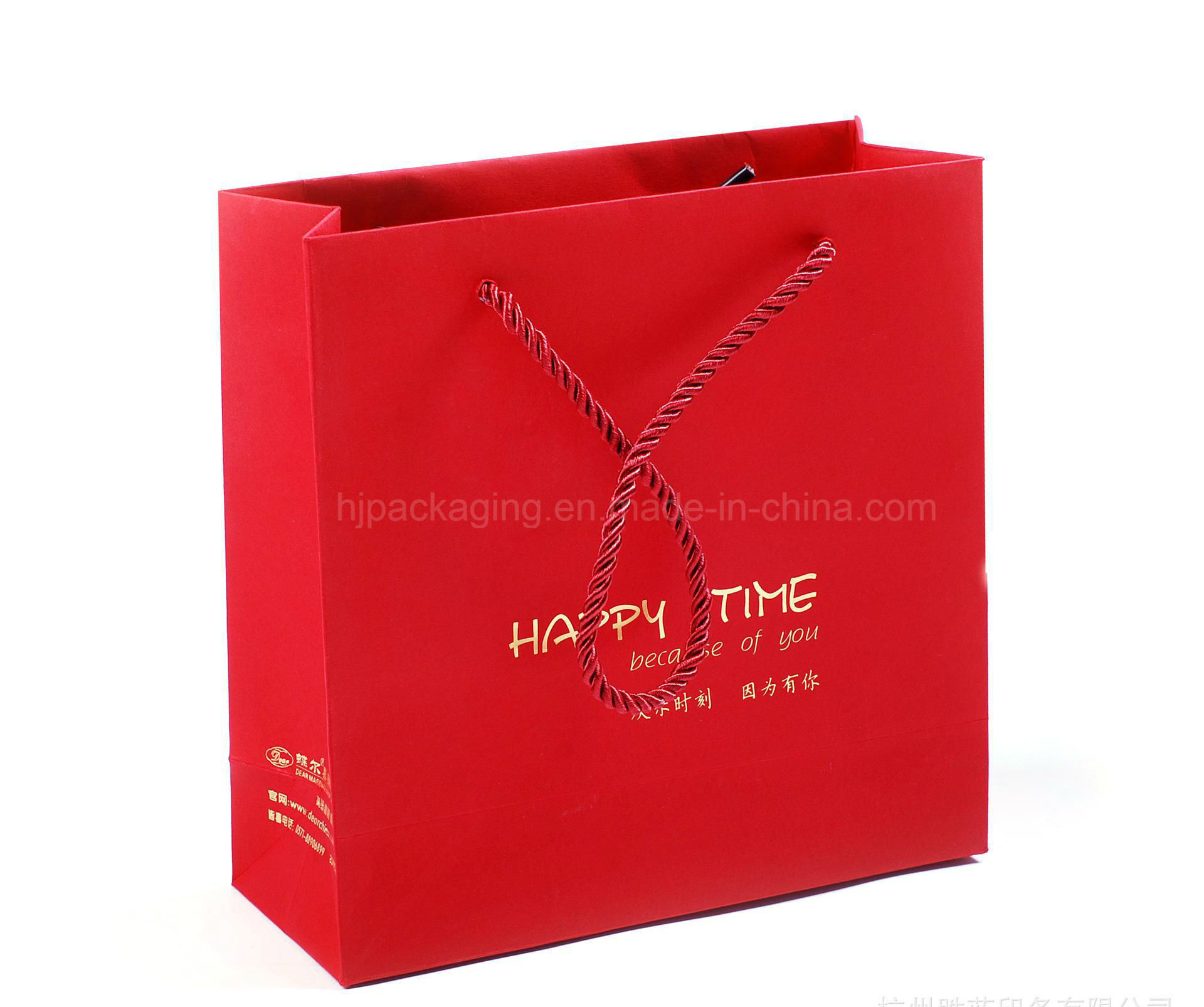 Paper Gift Bags Wholesale Hot Item Customized Logo Silver Hot Stamping Logo Luxury Paper Gift Bags Wholesale Paper Bag Printing With Silk Handle