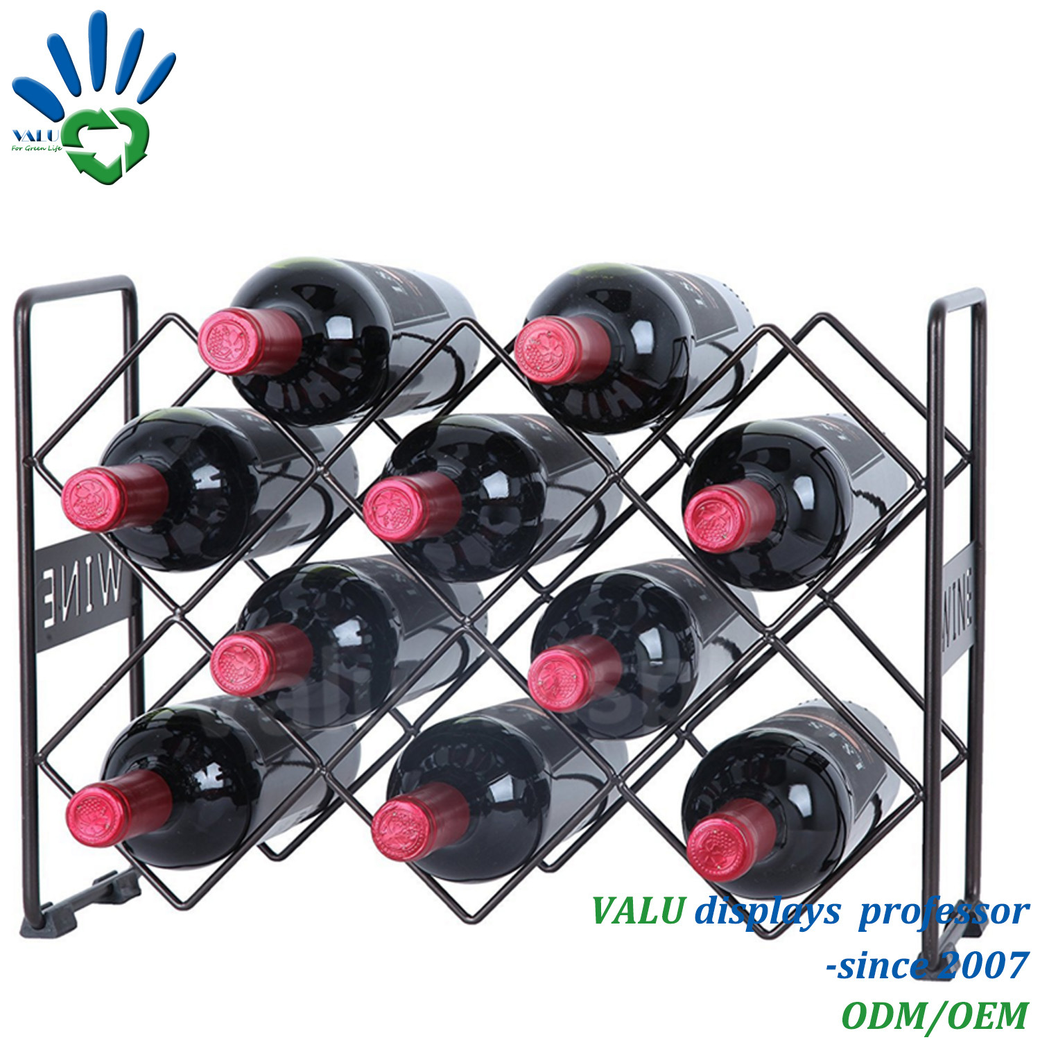 Wine Holder Stand China 3tier Metal Table Top Wine Holder Stand Rack For Home Bar