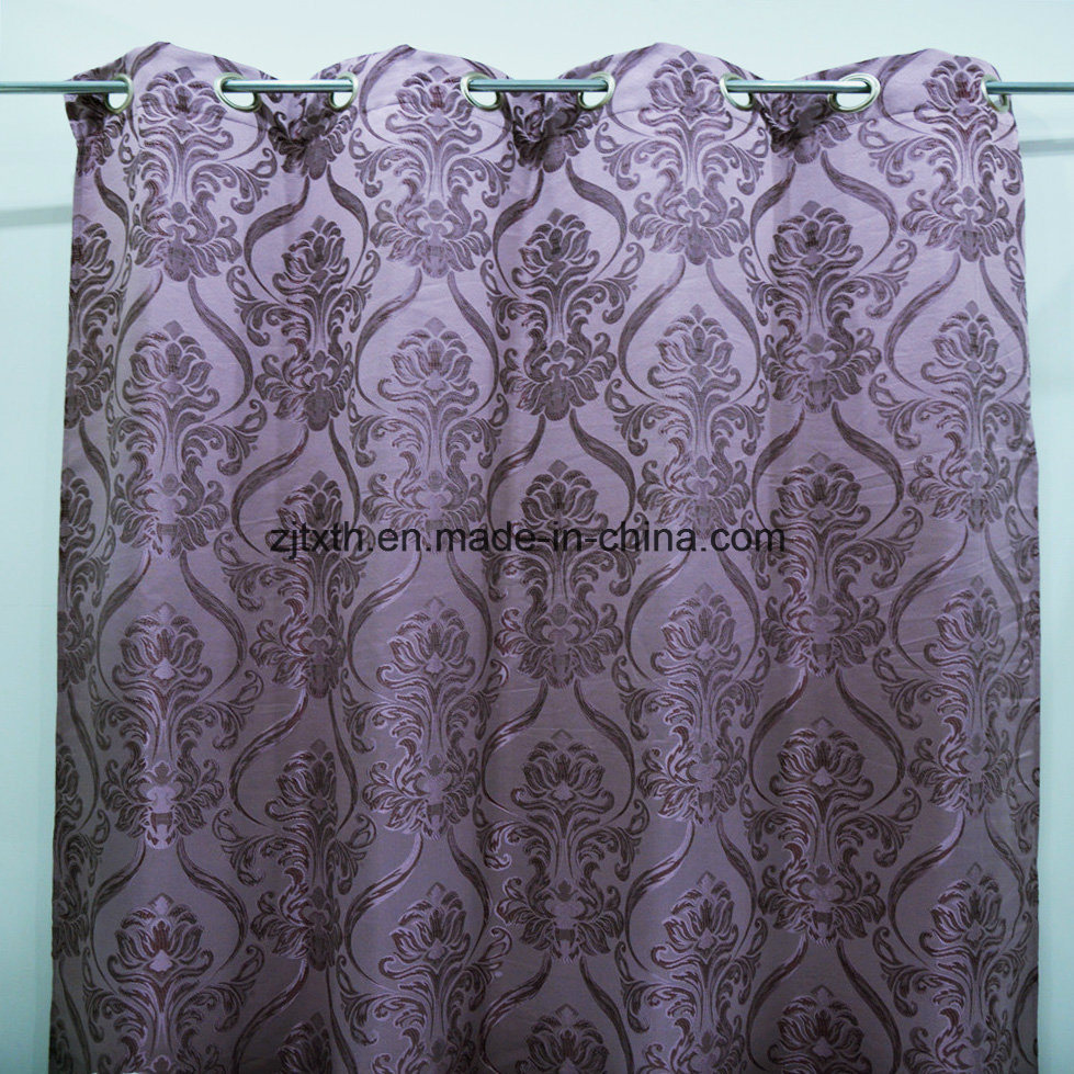 Curtain Fabric Wholesale China Purple Classical Design Wholesale Curtain Fabric For Living