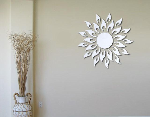 bathroom wall decorations sunburst wall decor wall mirror stickers tonka design digsdigs