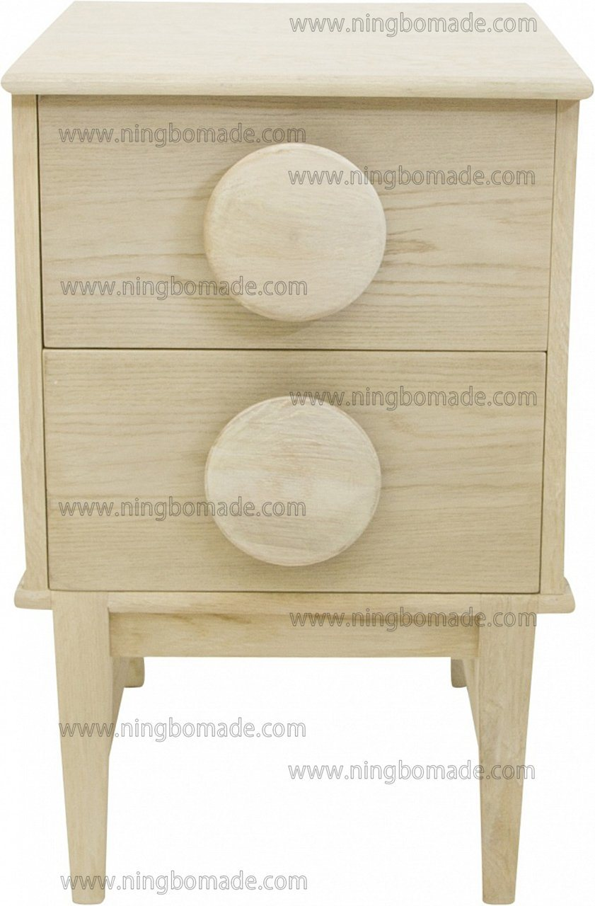 China Vintage Furniture Belgium Design Hand Painted Antique Corner Colletion Oak White 2 Drawers Cabinet China Storage Chest