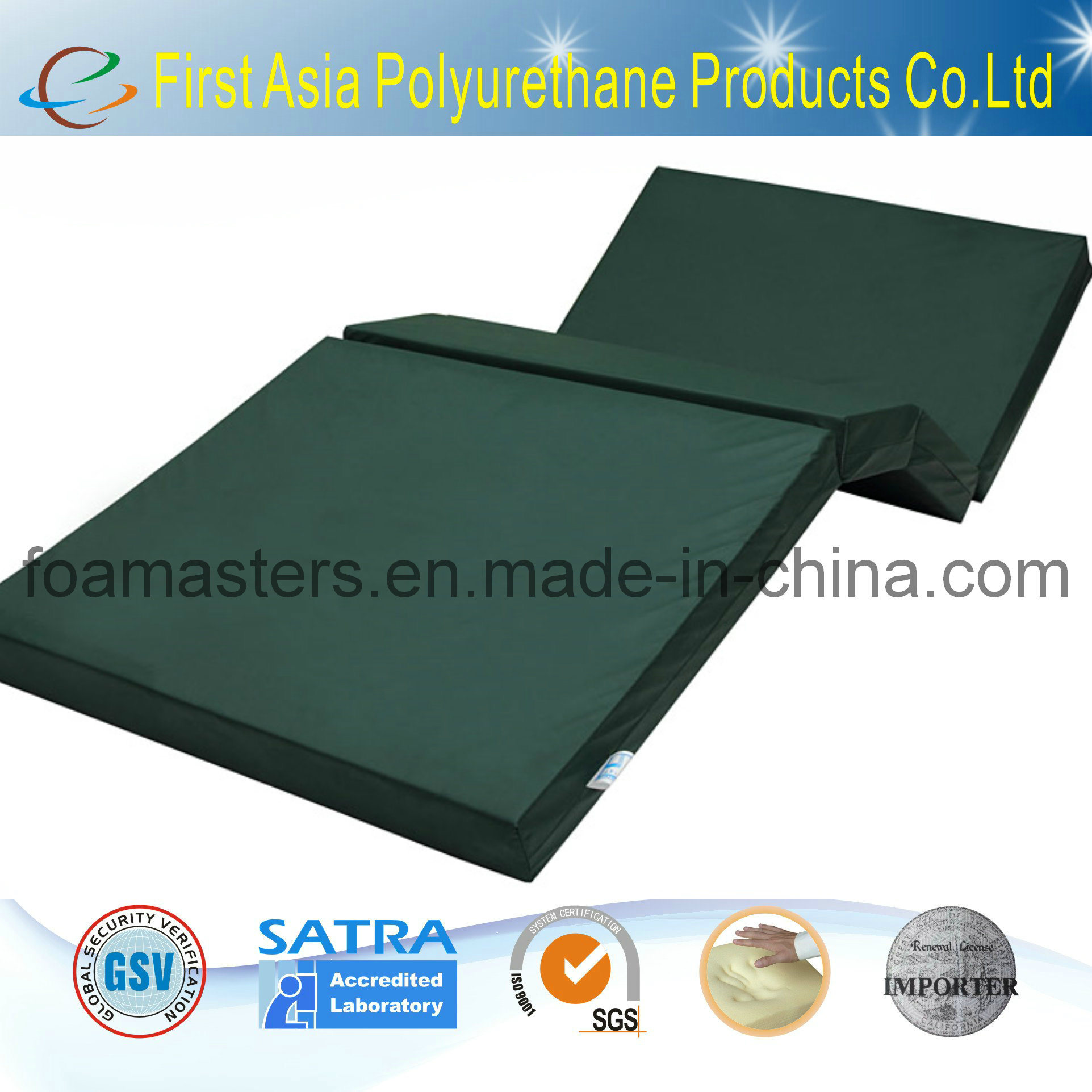 Foldable Foam Mattress Hot Item Hospital Foldable Memory Foam Mattress Bmu 8901