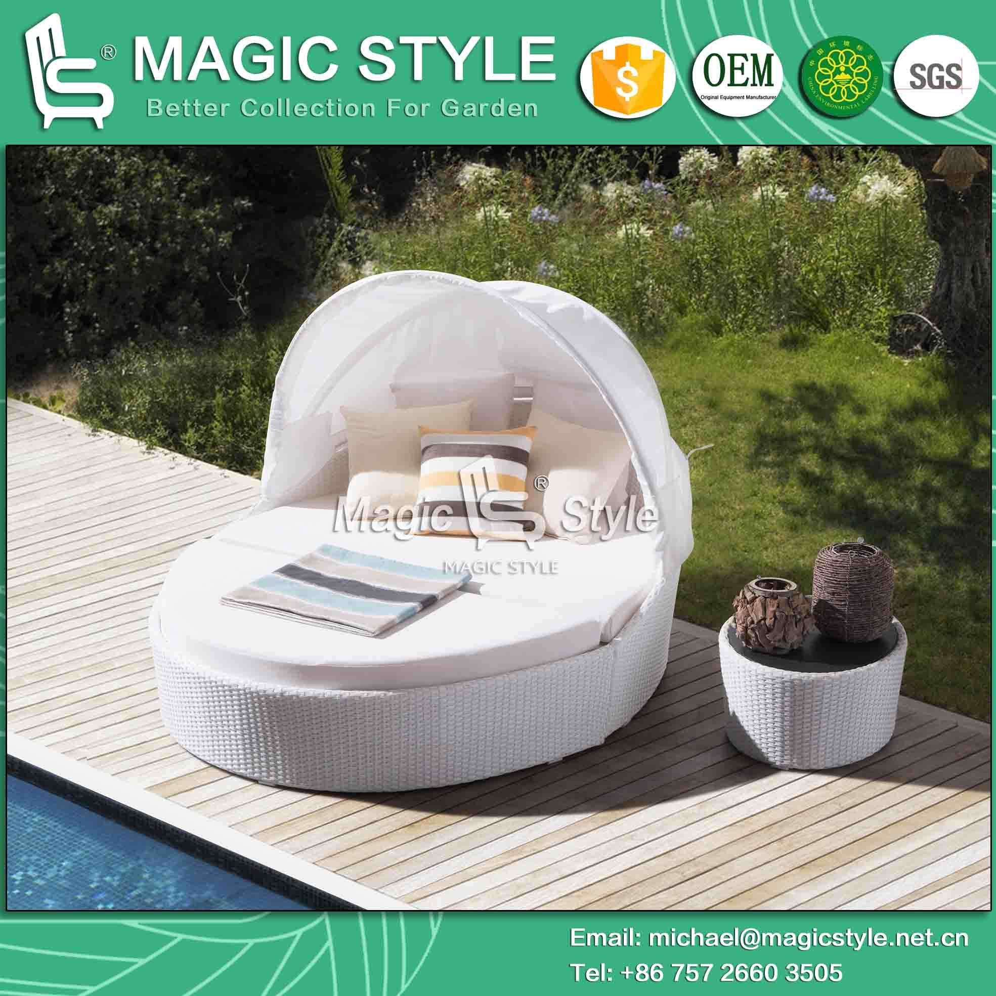 Pearl Daybed Outdoor China Garden Daybed With Cushoin Outdoor Rattan Sunbed