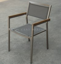 China Armchair (Stainless Steel Look)