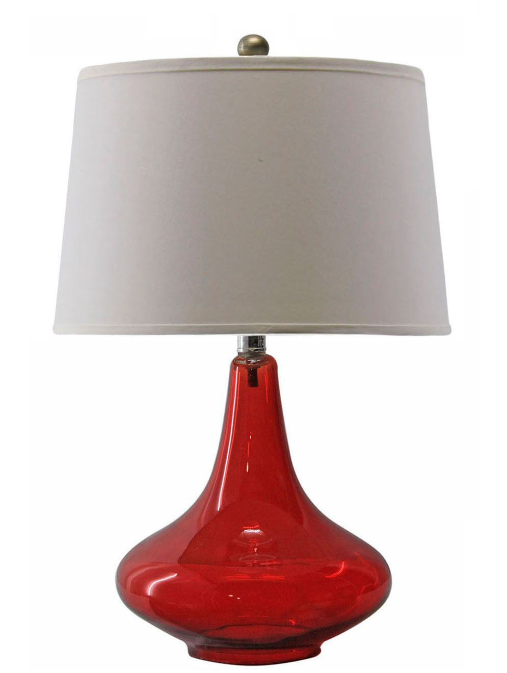 Lampe Rot China Modern Red Glass Desk Lamp With Fabric Shade - China