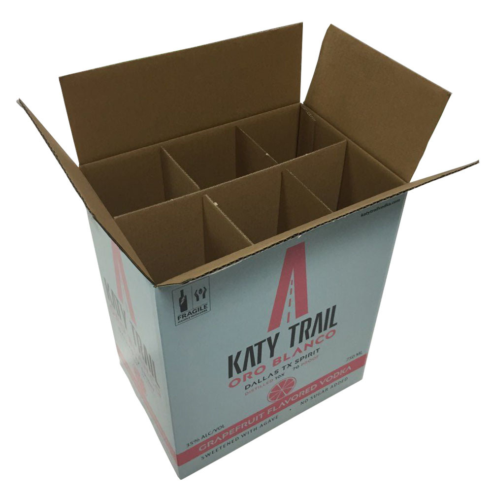 Cardboard Box Dividers Hot Item 6 Pack Wine Bottle Carrying Carton With Dividers Fp6076