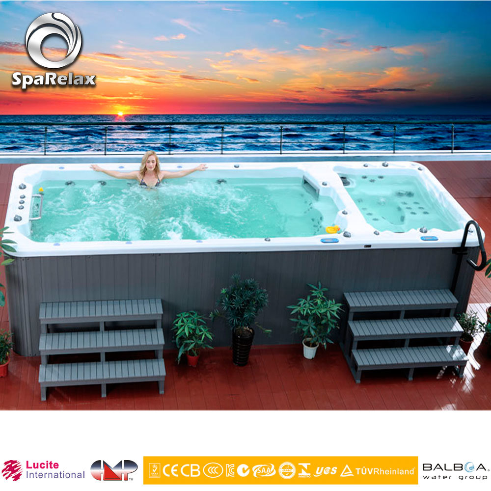 Whirlpool Outdoor Swim Spa China Hydro Massage Pool Outdoor Whirlpool Outdoor Swim Spa