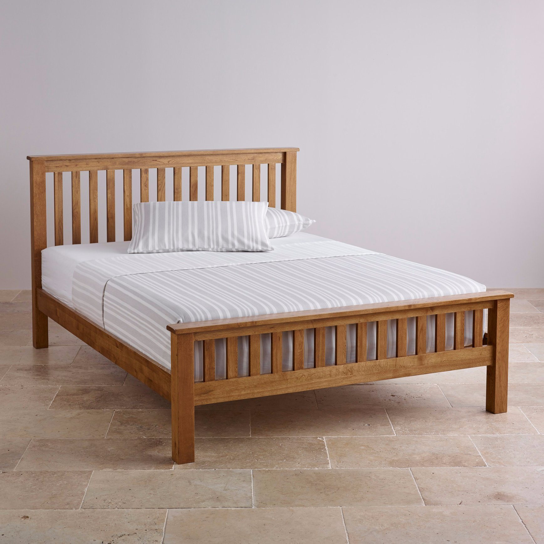 Double Size Bed Hot Item Rustic Vintage Oak Solid Wood Single Double King Queen Size Bed